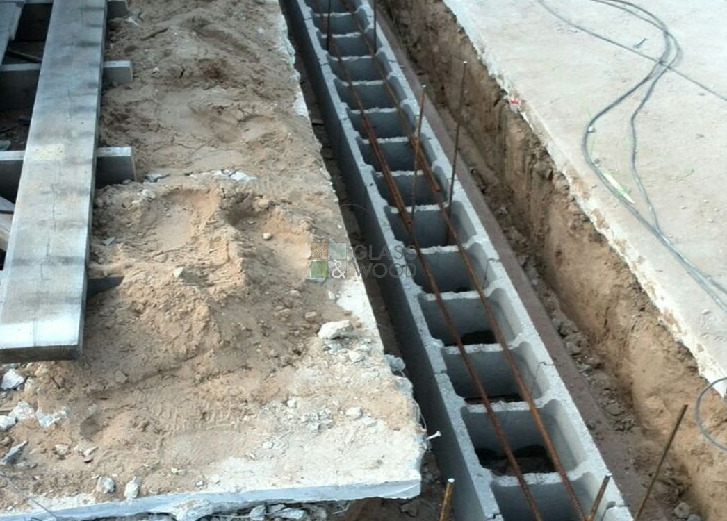 Concreting of board bases