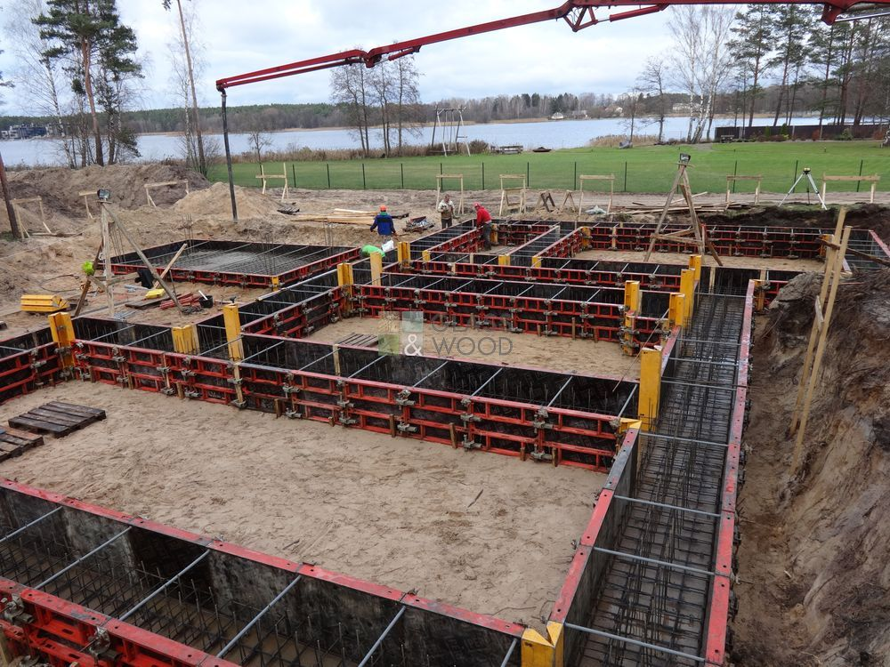 Foundation concreting works