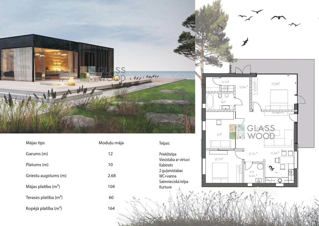 Wood house planing