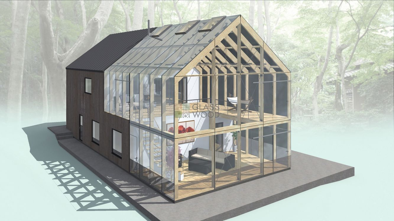 Glass house designing