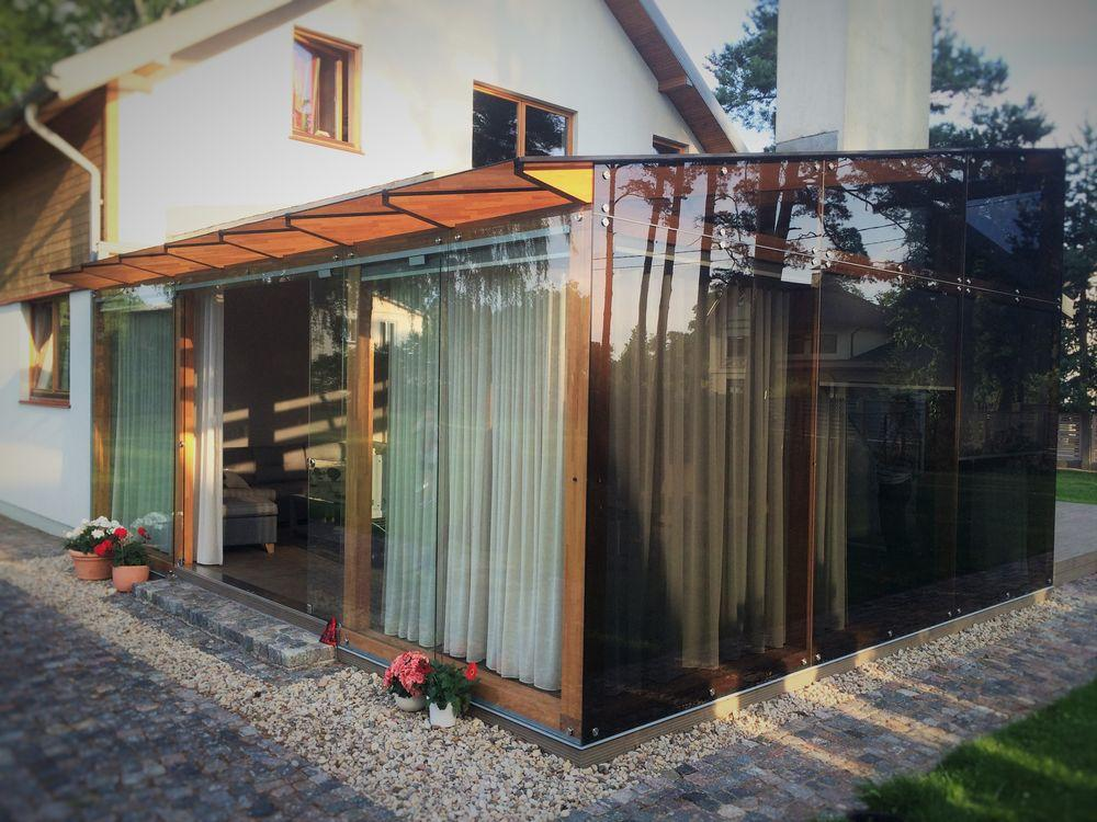 Glass wooden veranda