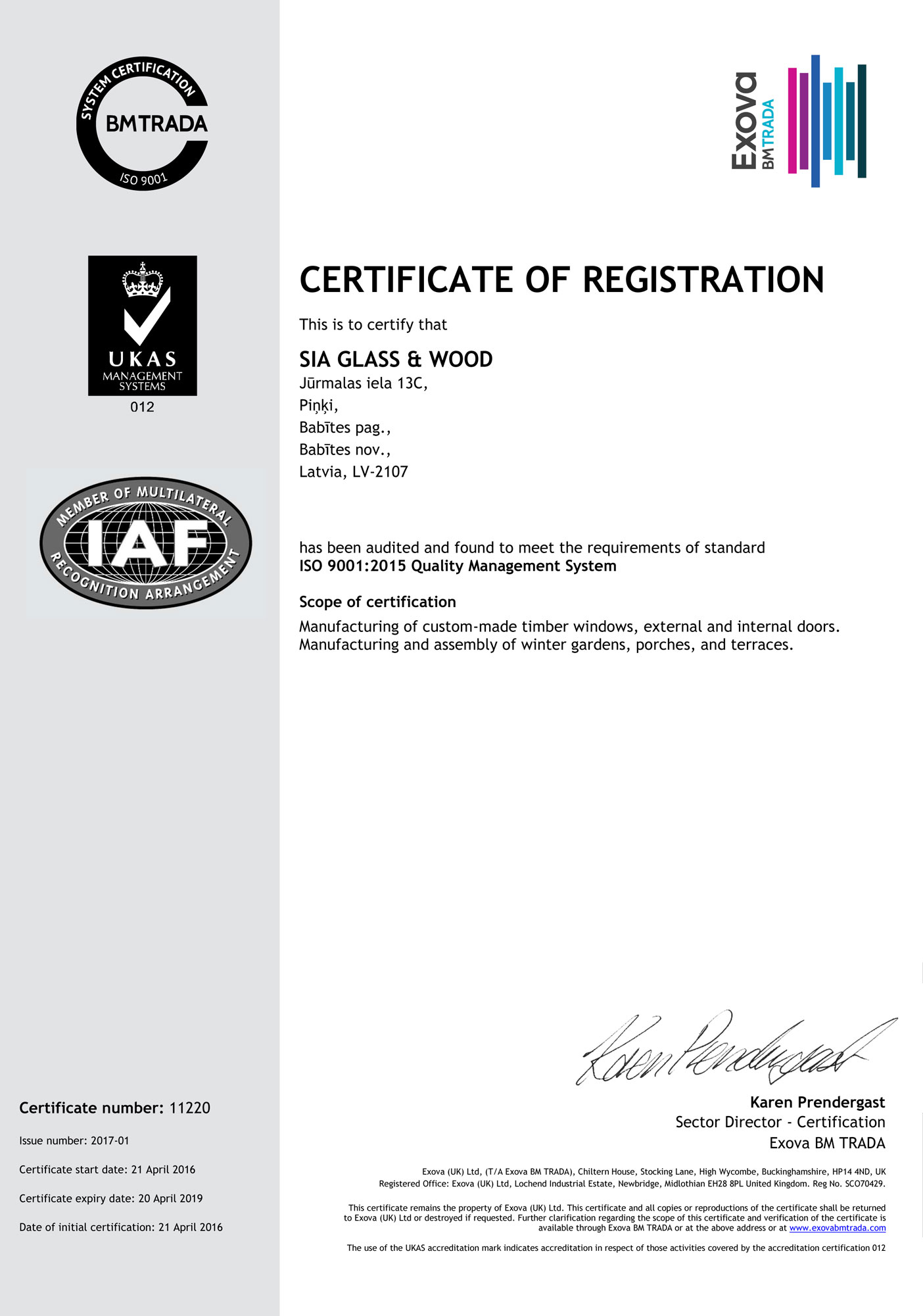ISO 9001 certificate ENG