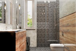 Design bathroom with WC