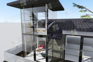 house design with glass