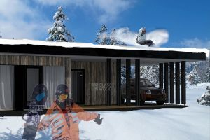 Snowing house design