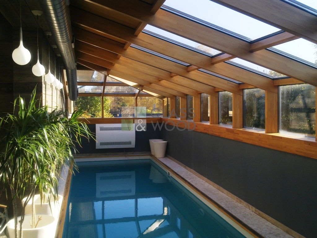 Winter garden with glass roof