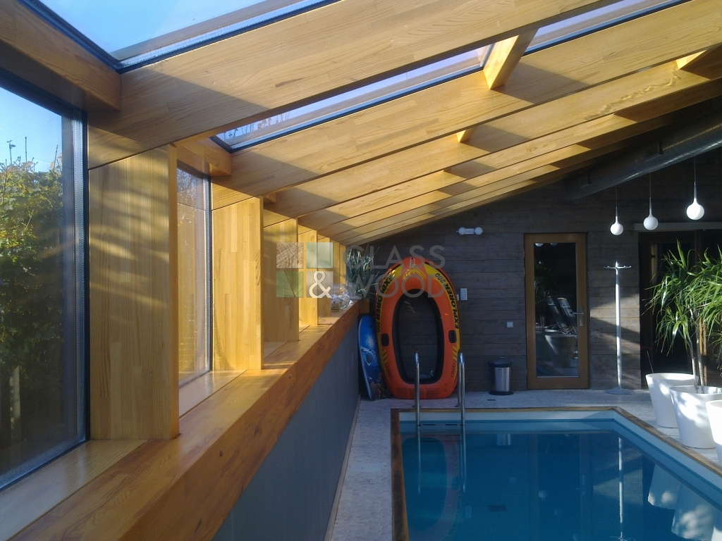 Pool glass cover