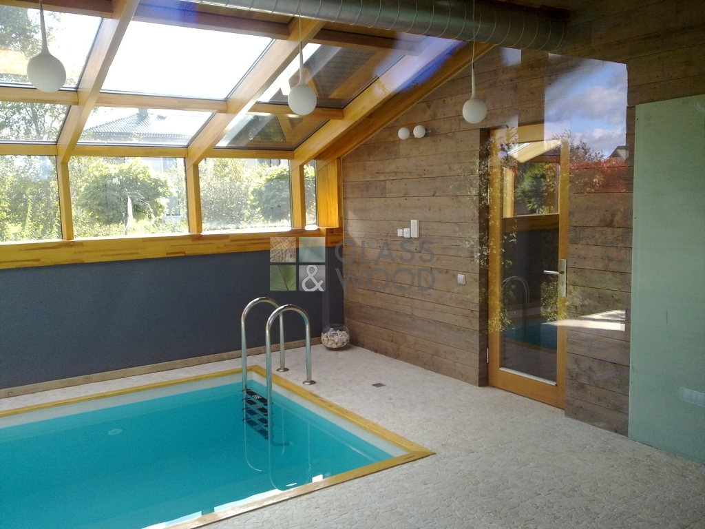 Skylight in pool apartment-special harmony