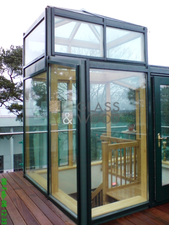 Modern glass construction
