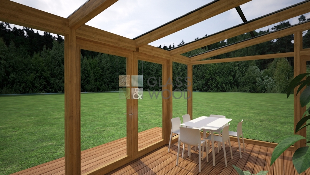Glass shed-terrace