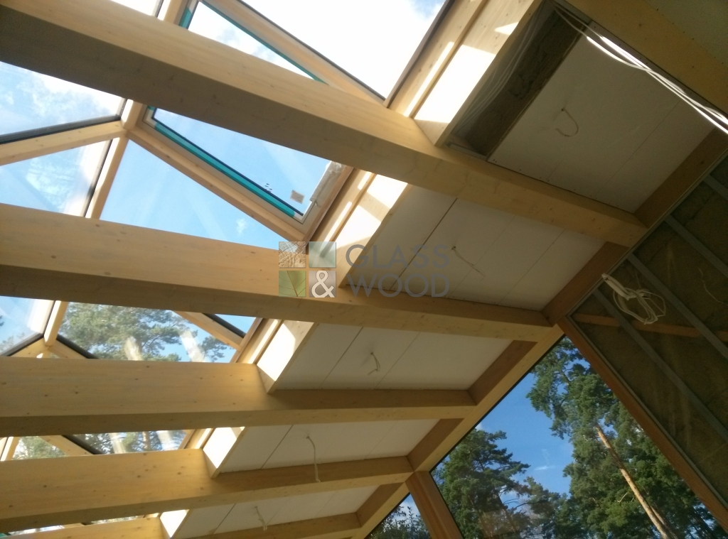 Wooden roof system